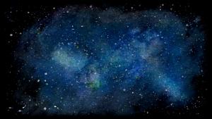 galaxia con acuarela